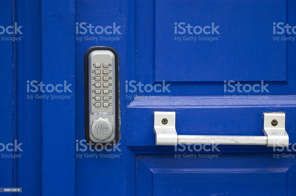 Door with code lock royalty-free stock photo