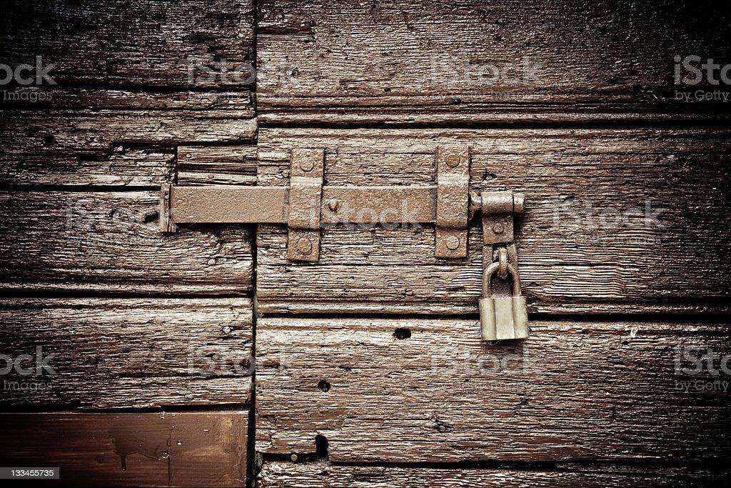 Door with lockpad stock photo