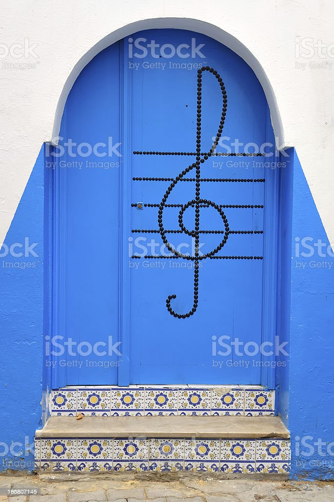 door with ornaments royalty-free stock photo