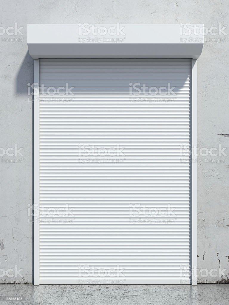 Door with roller shutter stock photo