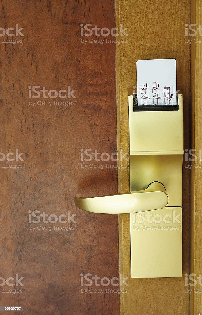 Door with security card. stock photo