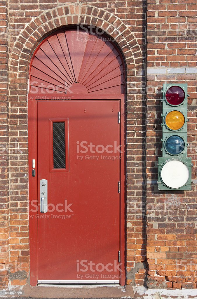 Door with Signal royalty-free stock photo