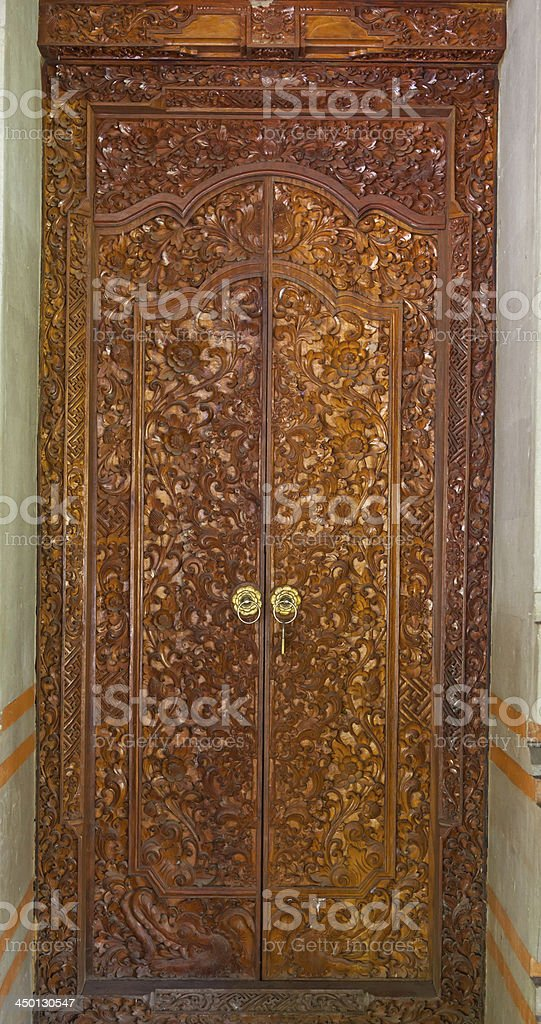 door wood carved royalty-free stock photo