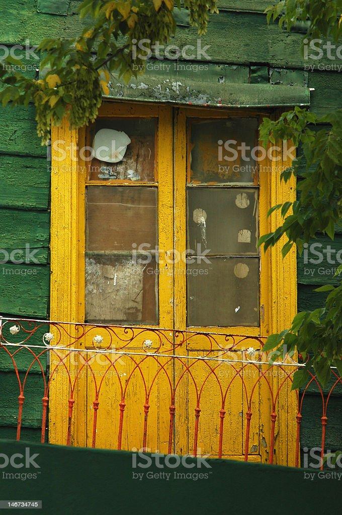 Door yellow royalty-free stock photo