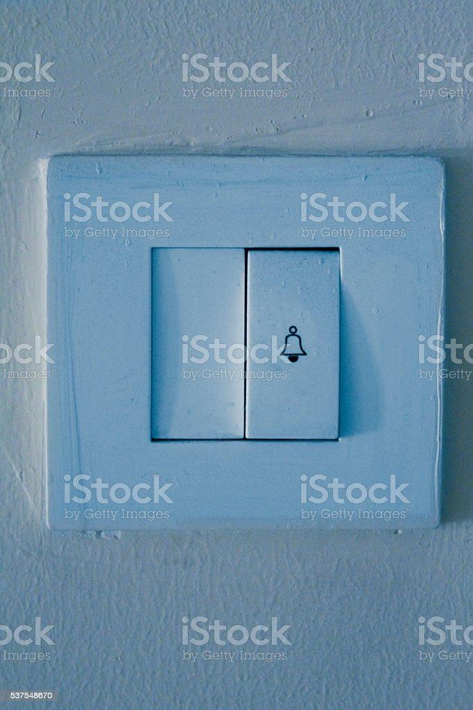 Doorbell button stock photo