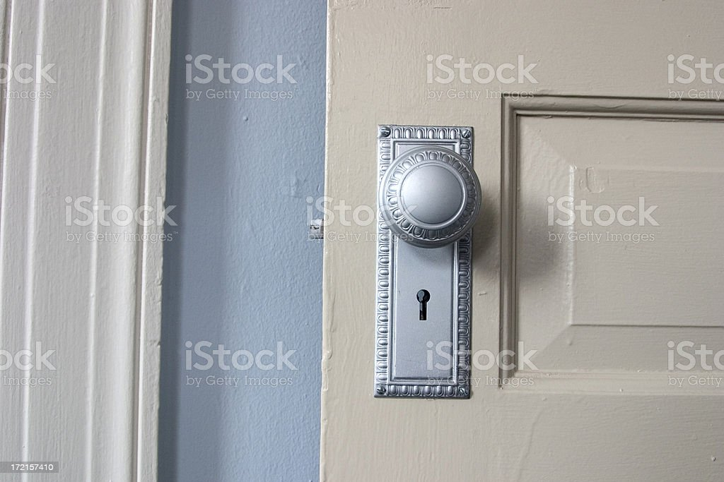 Doorknob blues stock photo