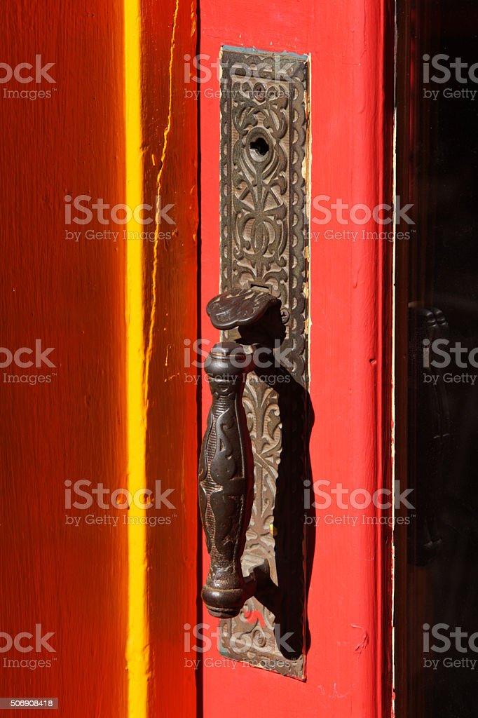 Doorknob Handle Brass Entry Fixture stock photo