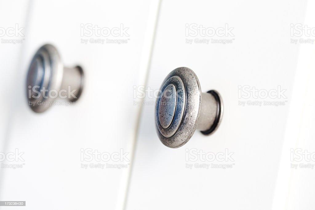 doorknob on white stock photo
