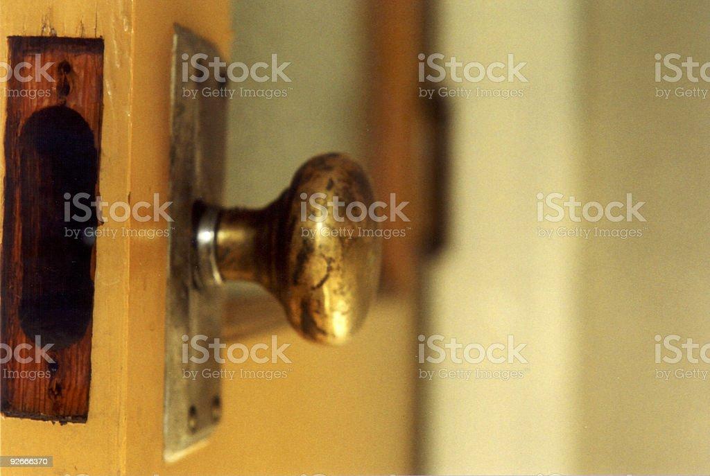 Door/Knob stock photo