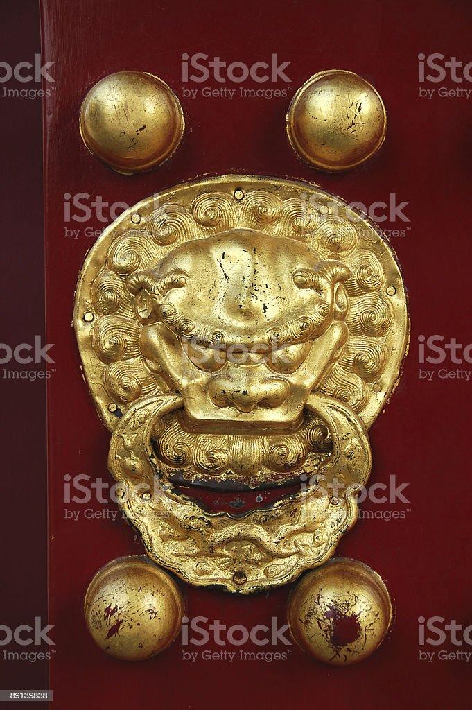 doorknob, Temple of Heaven royalty-free stock photo