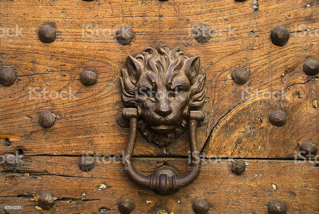 door-knocker royalty-free stock photo