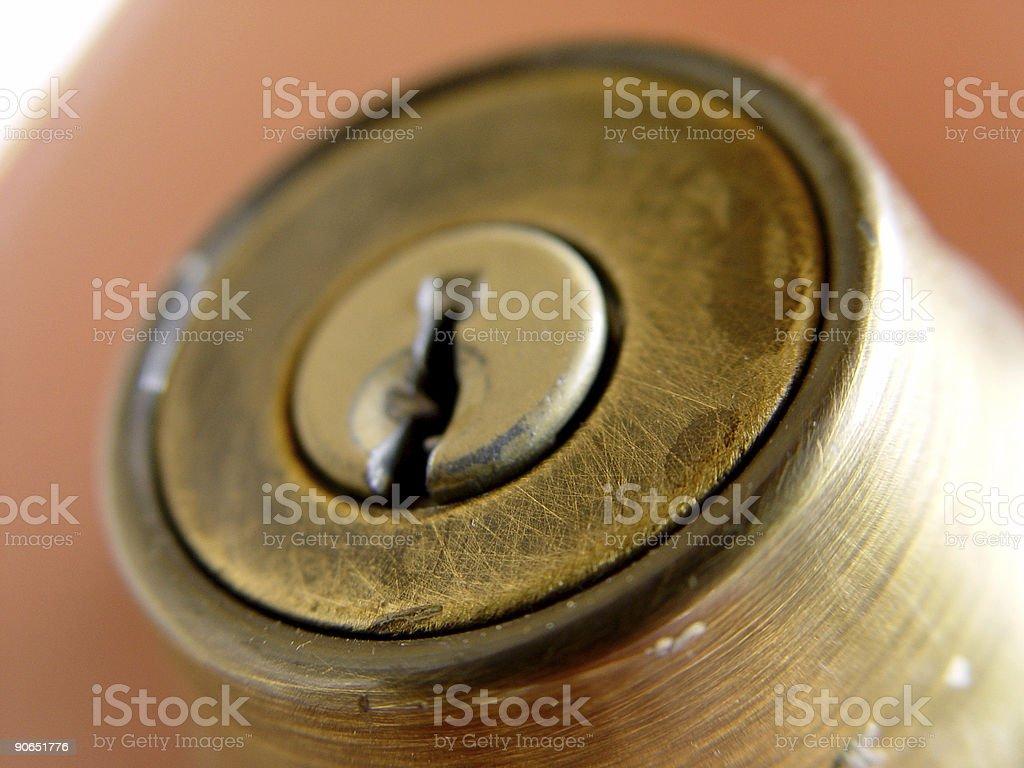 Doorlock closeup stock photo