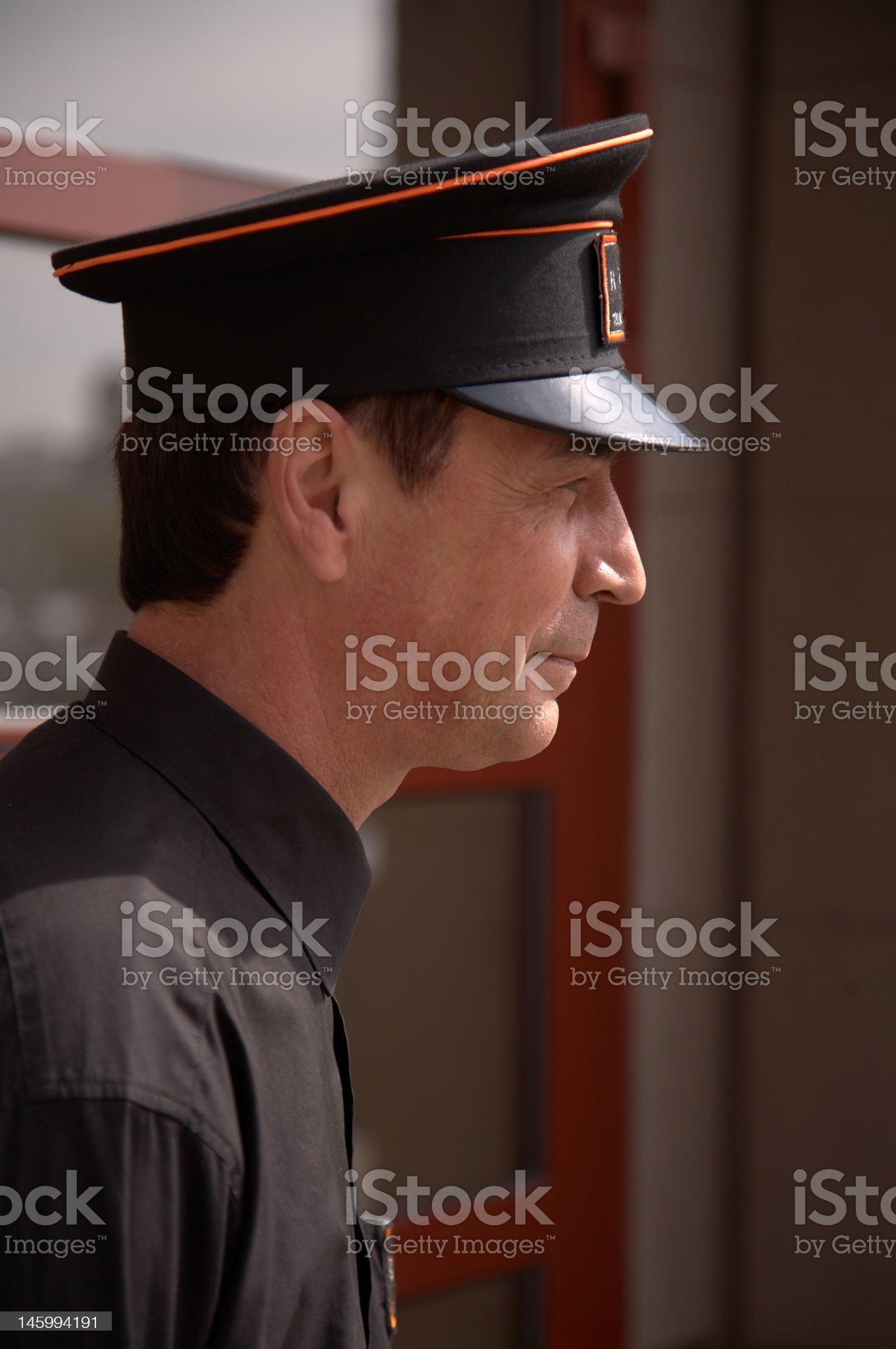 Doorman. royalty-free stock photo