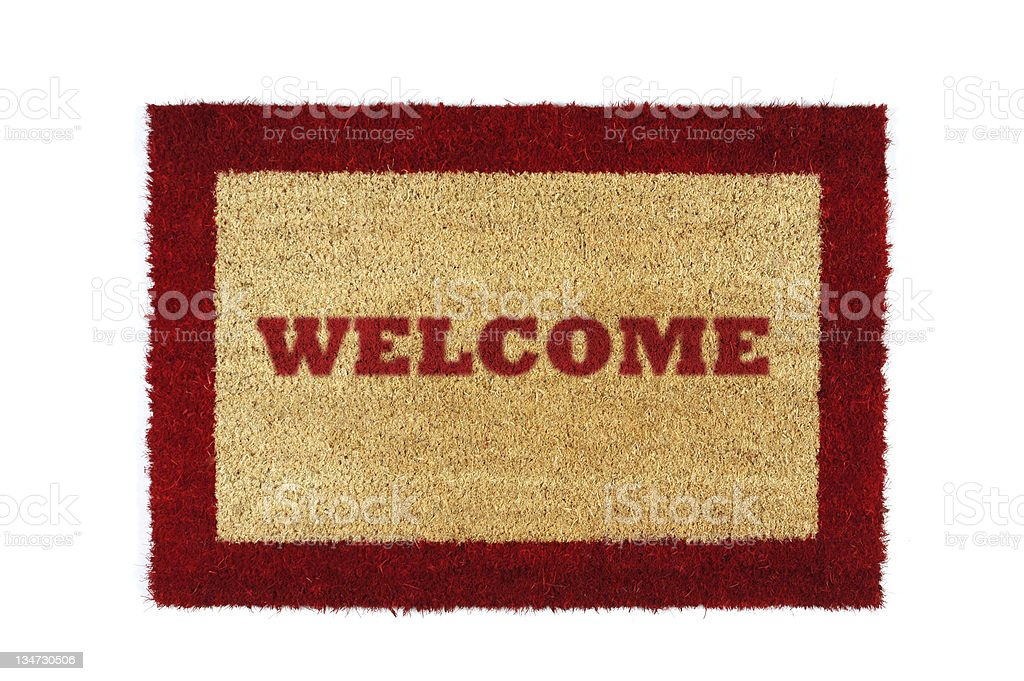 doormat red welcome royalty-free stock photo