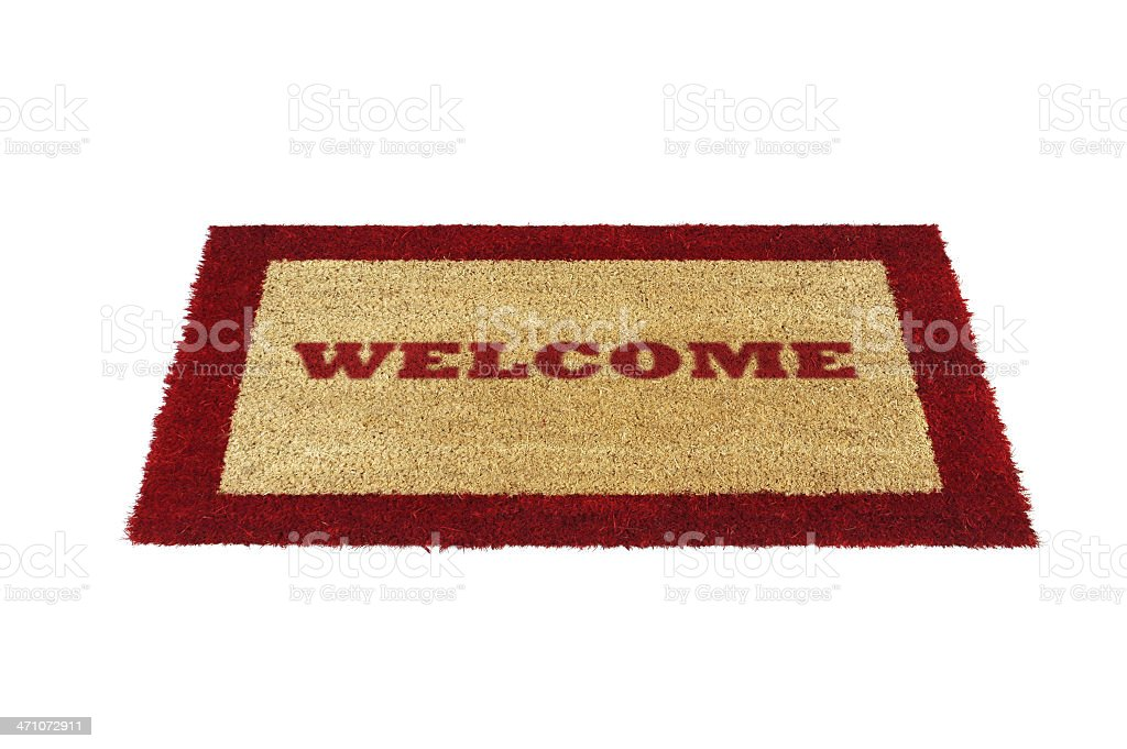 doormat welcome red royalty-free stock photo