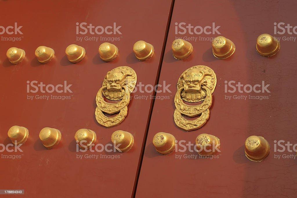 doornail and door knockers royalty-free stock photo