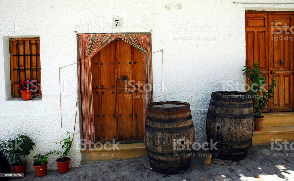 Doors and Barrels royalty-free stock photo