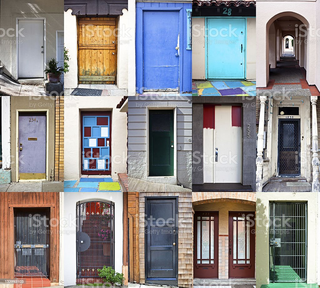 Doors and Houses in San Francisco stock photo
