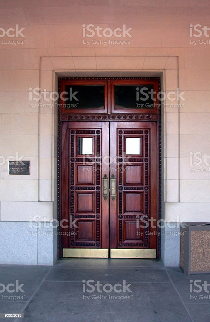 Doors at the Kentucky State Capitol stock photo