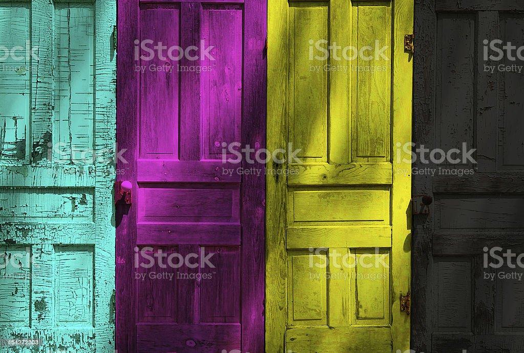 doors, cmyk stock photo