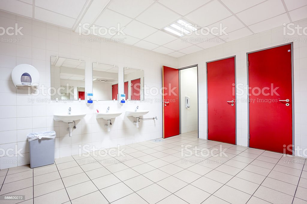 doors from toilets and sinks stock photo