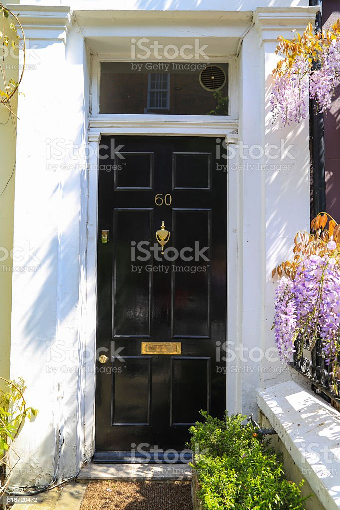Doors in the English style. stock photo