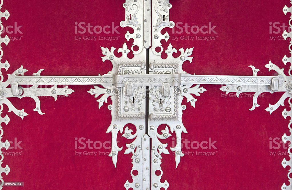 Door's locks and knockers royalty-free stock photo