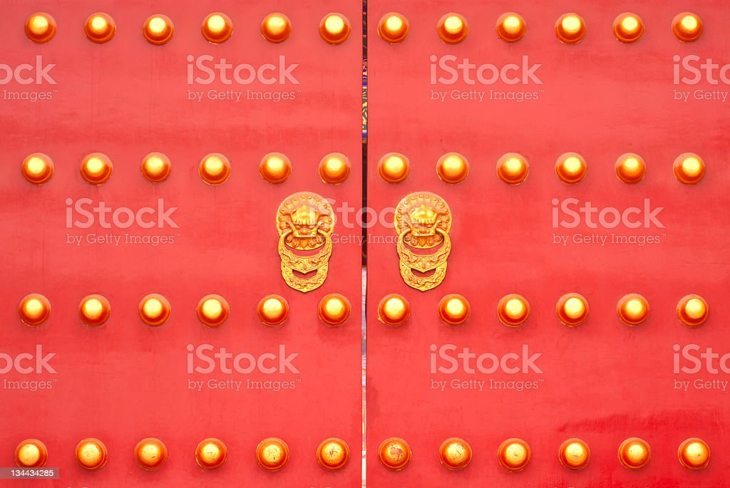 Doors of ancient Chinese royalty-free stock photo