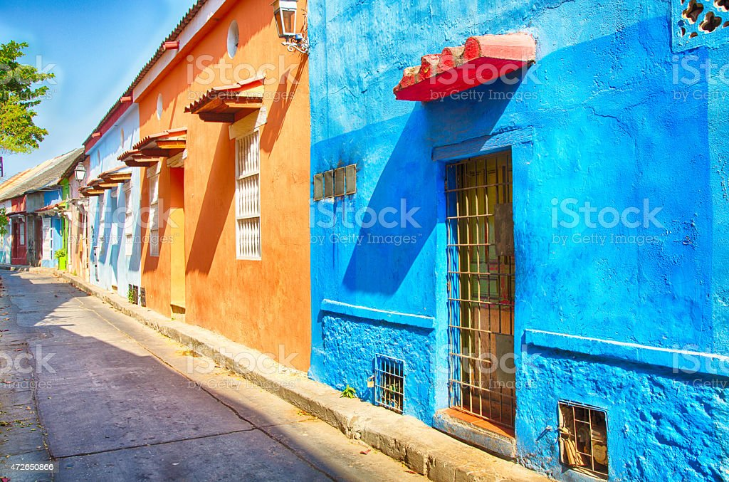 Doors of Cartagena stock photo