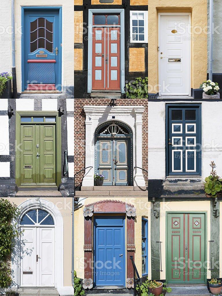 Doors of Denmark stock photo