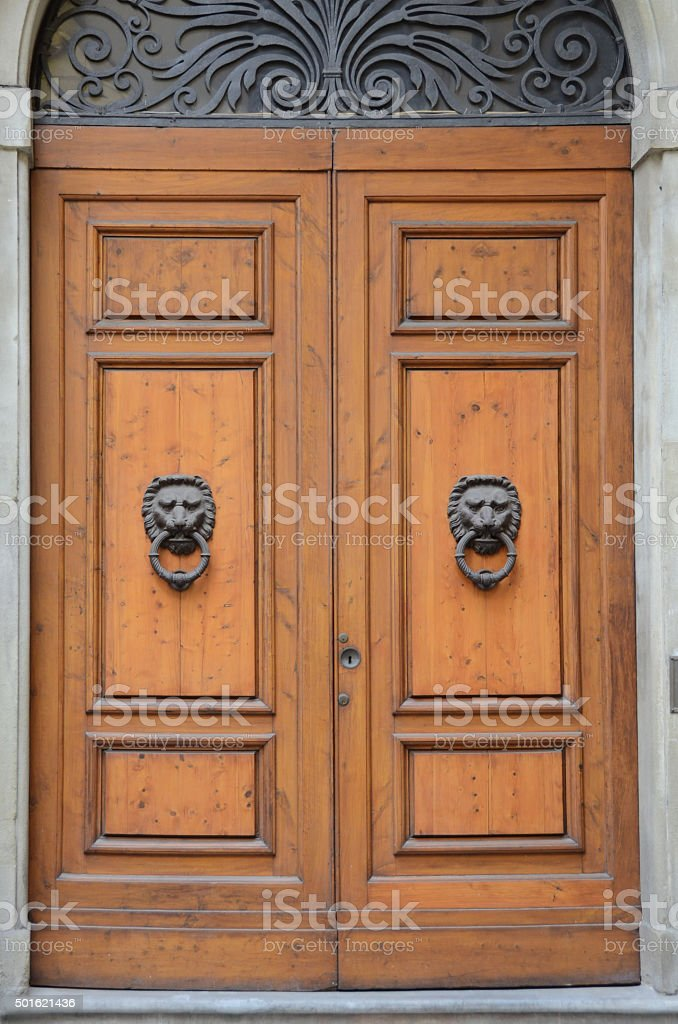 Doors of Florence, Italy stock photo