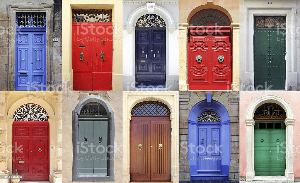 Doors of Malta stock photo