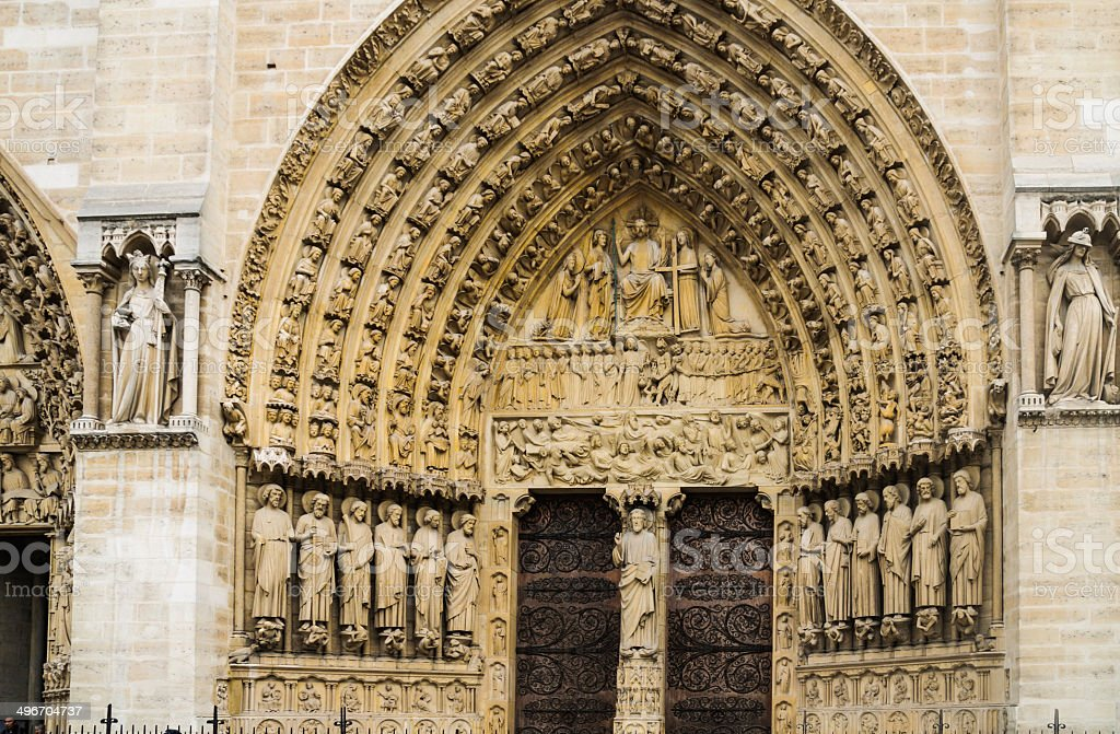 Doors of Notre Dame royalty-free stock photo