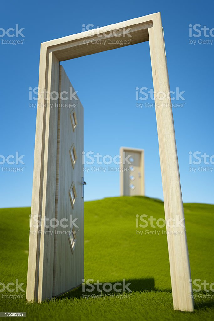 Doors of opportunity royalty-free stock photo