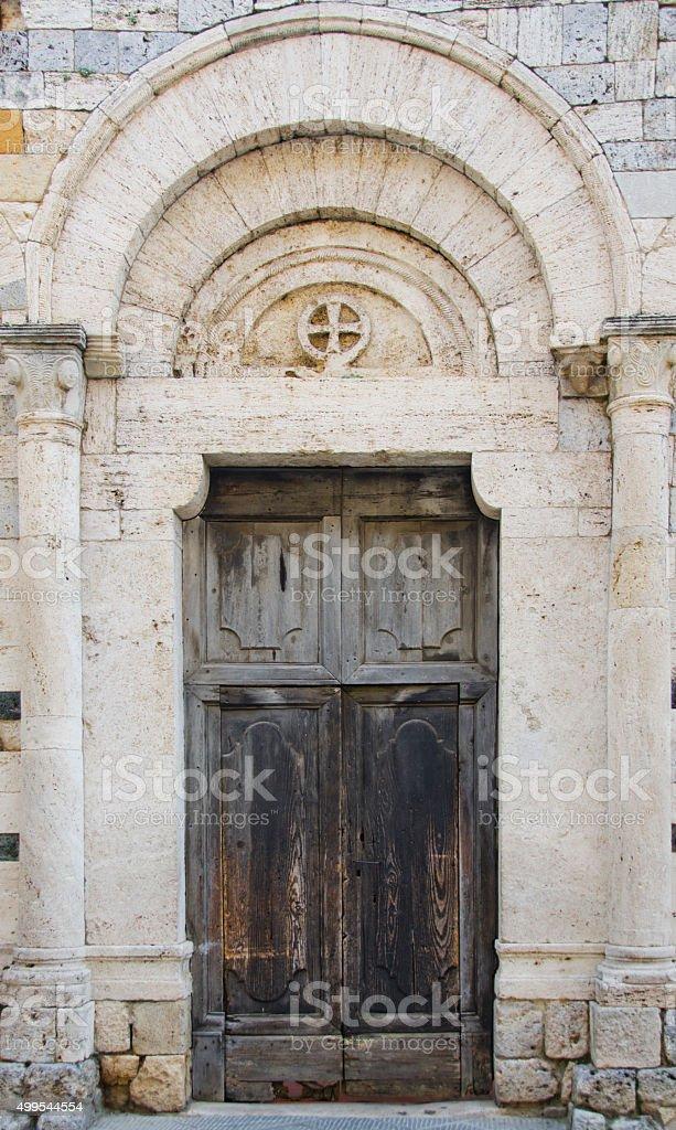 Doors of San Gimignano, Italy stock photo
