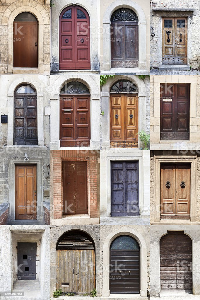Doors of San Marino Republic royalty-free stock photo