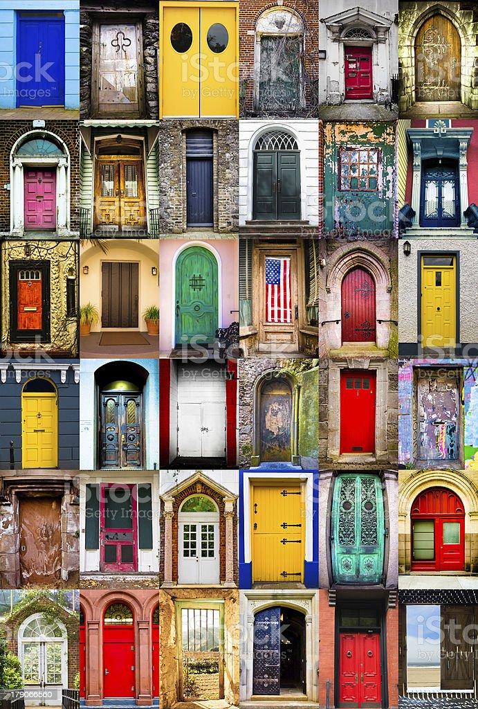 Doors stock photo