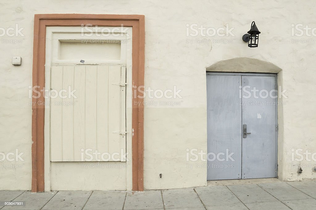 2 doors stock photo