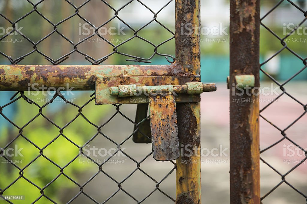 doors rusted iron fence royalty-free stock photo