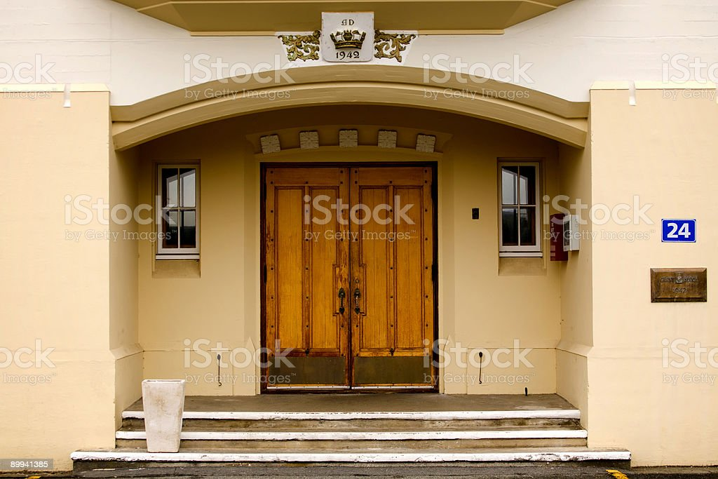 Doors to the hall royalty-free stock photo