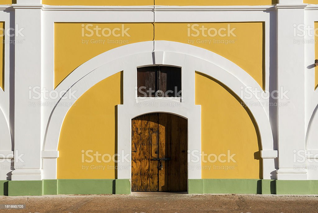 Doorway at El Morro in San Juan, Puerto Rico royalty-free stock photo