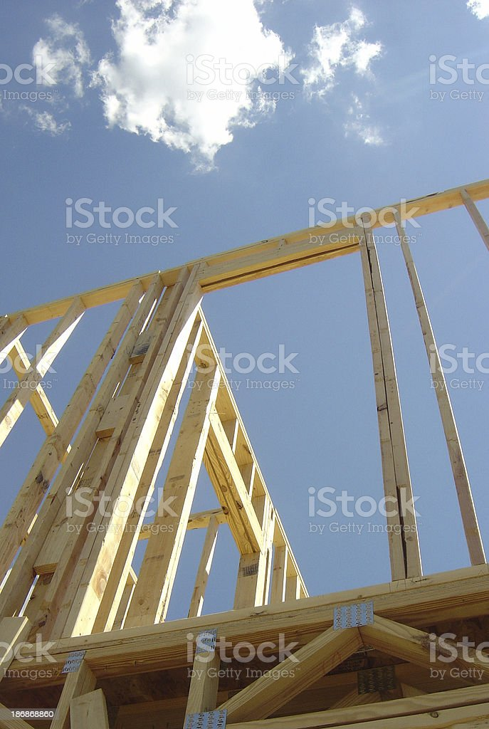 Doorway being built in new construction royalty-free stock photo