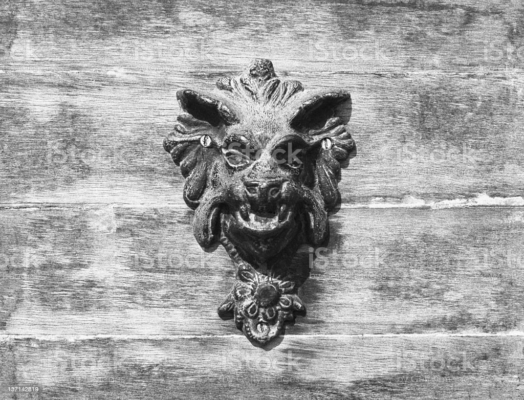 Doorway Gargoyle royalty-free stock photo
