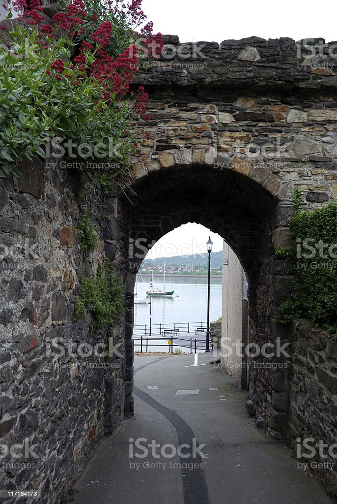 Doorway in Conwy, Wales royalty-free stock photo