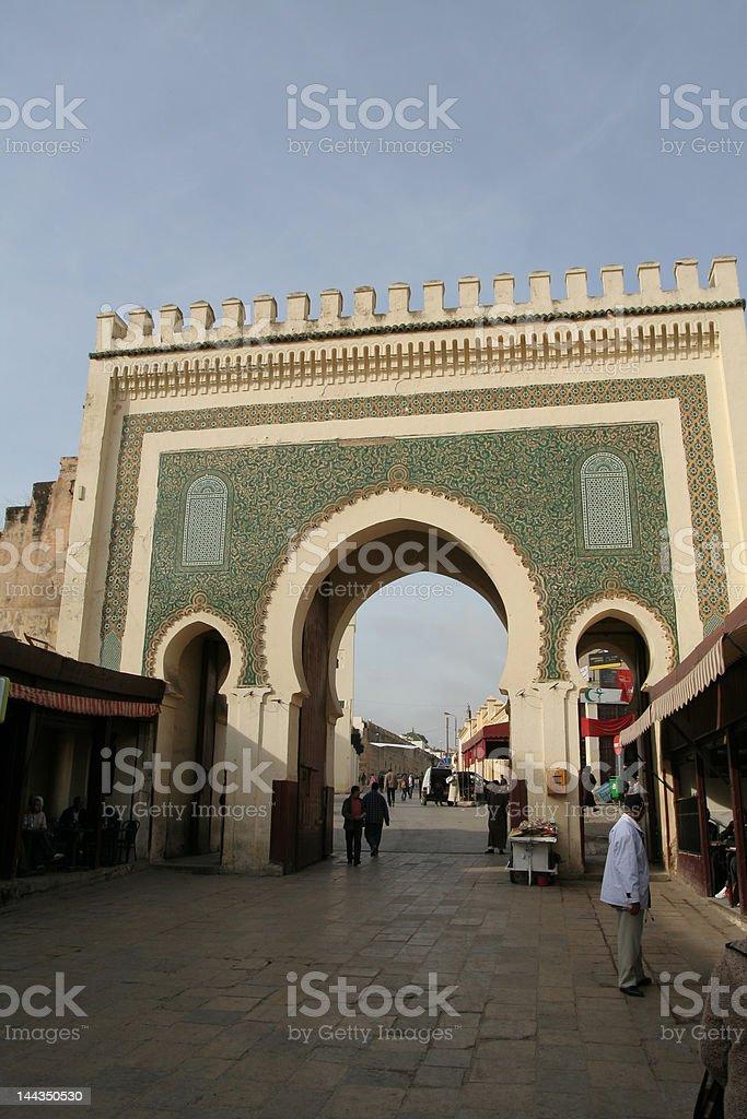 Doorway in Fez royalty-free stock photo