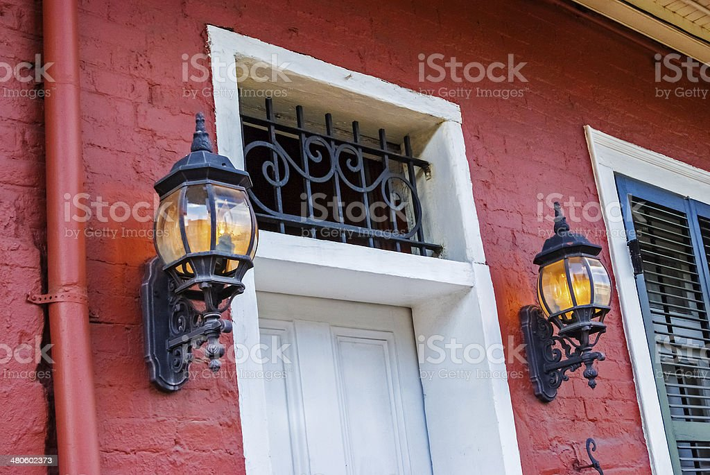 Doorway in the French Quarters stock photo