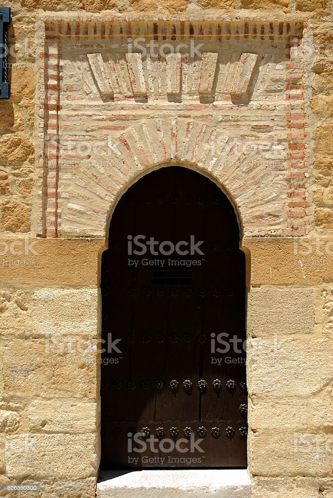 Doorway in the Giants Arch, Antequera. stock photo
