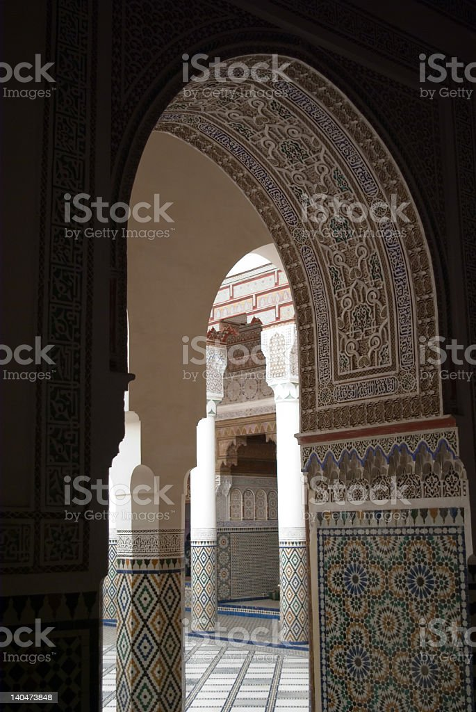 Doorway, Marrakech royalty-free stock photo
