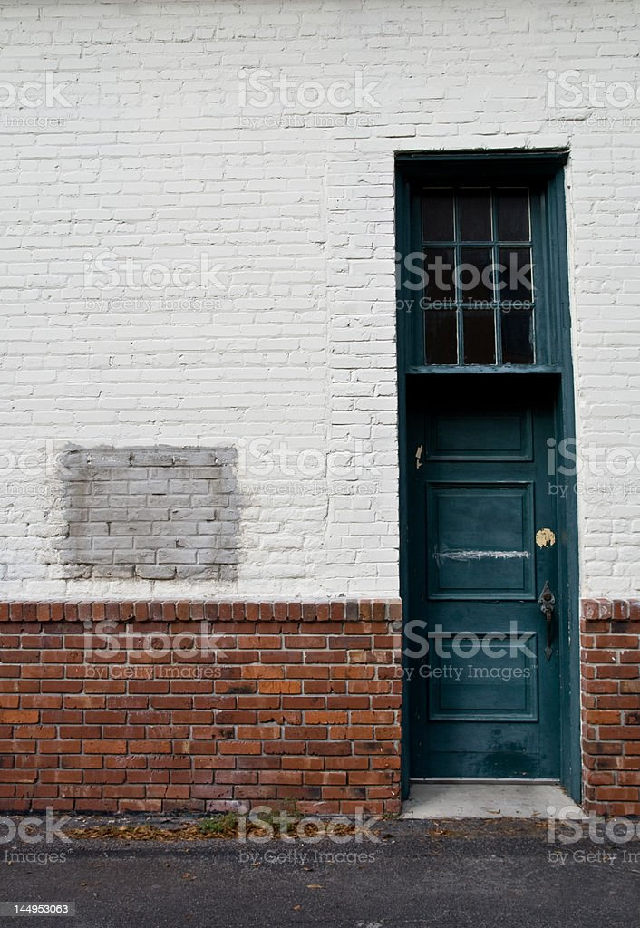 Doorway on Brick Wall royalty-free stock photo