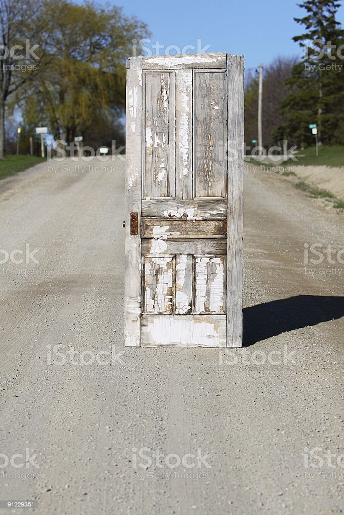 Doorway On Country Road royalty-free stock photo